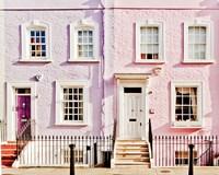 London Pink Purple Houses Fine Art Print