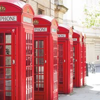 Covent Garden Phone Boxes Fine Art Print