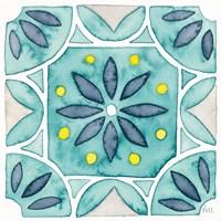 Garden Getaway Tile VIII Teal Fine Art Print