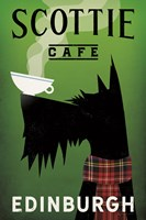 Scottie Cafe Framed Print