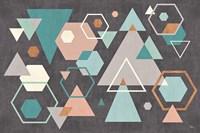 Abstract Geo I Black Fine Art Print