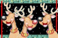 Happy Reindeer Fine Art Print
