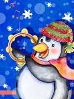 Penguin Tambourine Fine Art Print