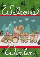 Woodland Express Welcome Winter Fine Art Print