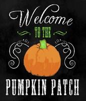 Welcome Pumpkin Patch Fine Art Print