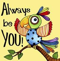 Be You Bird Framed Print