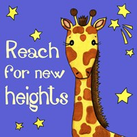 New Heights Giraffe Framed Print