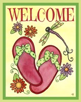 Flip Flop Welcome Fine Art Print