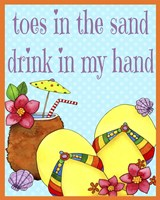 Toes In The Sand Fine Art Print