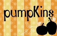 Pumpkin Banner Fine Art Print