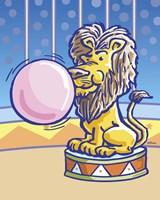 Bubble Gum Lion Fine Art Print