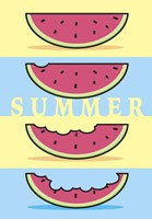 SummerFlag Watermelon Summer 1 Fine Art Print