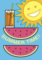 SummerFlag Watermelon Summer 2 Fine Art Print