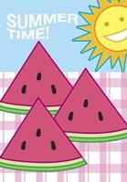 SummerFlag Watermelon Summer 3 Fine Art Print