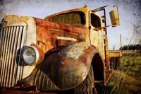 White Truck, Driver's Side Fine Art Print