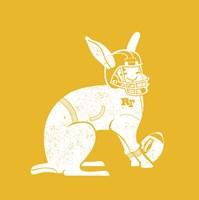 Wabbit Yellow Fine Art Print