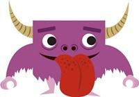 Cute Purple Monster Fine Art Print