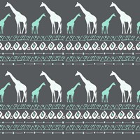 Tribal Giraffes Fine Art Print