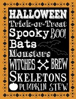 Halloween Words 1 Outlines Fine Art Print