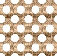 White Burlap Dots Fine Art Print