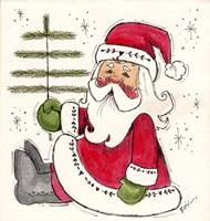 Santa Holding Tree Fine Art Print