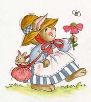 Flower Bunny Fine Art Print