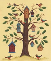 Bird House Tree Fine Art Print
