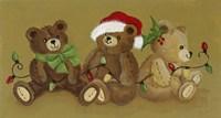 Three Teddies Fine Art Print