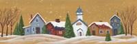Snowy Village Fine Art Print