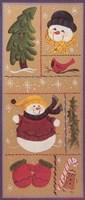 Snowman Collage Fine Art Print