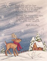 Saint Nick and His Deer Fine Art Print