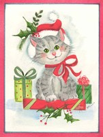 Cat with Gifts Fine Art Print