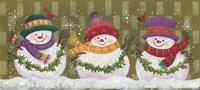Three Snowmen Fine Art Print