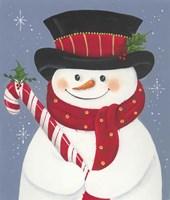 Candy Snowman Fine Art Print