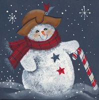 Snomwan With Candy Cane Fine Art Print