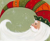 Santa In Elf's Hat Fine Art Print