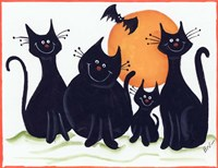 Halloween Kitties Fine Art Print