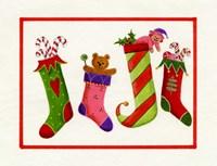 Four Stockings Fine Art Print