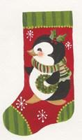 Penguin Stocking Fine Art Print