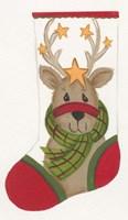 Reindeer Stocking Fine Art Print
