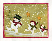 Marching Snowmen Fine Art Print
