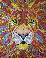 Lion Ablaze Fine Art Print