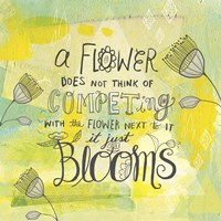 Blooms Quote Fine Art Print