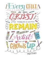 Every Child Is An Artist Fine Art Print