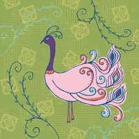 Pink Peacock Fine Art Print