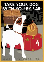 Take Your Dog by Rail Framed Print