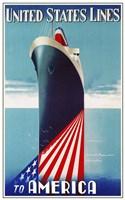 United States lines Fine Art Print