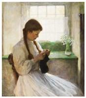 Women Knitting Fine Art Print