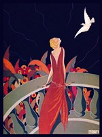 Art Deco Woman 4 Fine Art Print