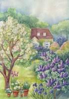 A Lilac Garden Fine Art Print